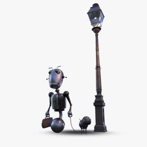 3D model steampunk robot dog belt