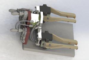 3D model assemble manipulator mechanism
