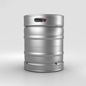 3D model beer keg