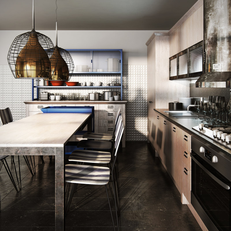 Realistic kitchen diesel social 3D model - TurboSquid 1341699