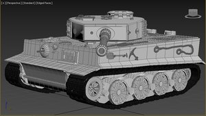 3D tiger ww2 model