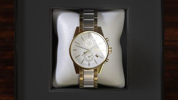 3D watch boss luxury model