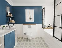 Retro Bathroom Interior Model