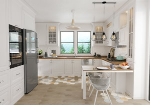 3D country kitchen interior scene model
