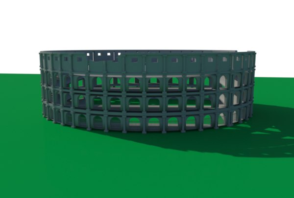 colosseum italian ancient 3D