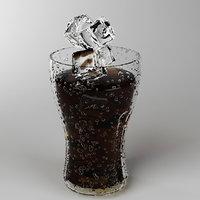 3D cola glass set model