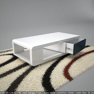 modern table design 3D model