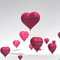 heart balloon 3D