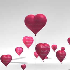 heart balloon 3D