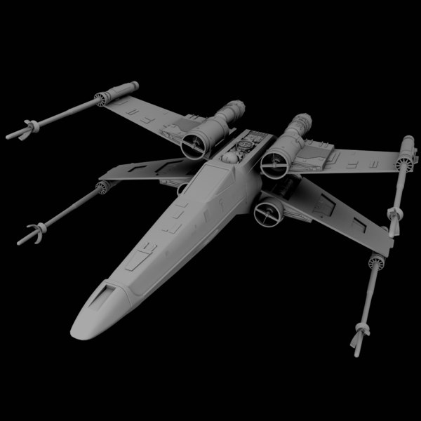3D rebel x-wing fighter star wars model