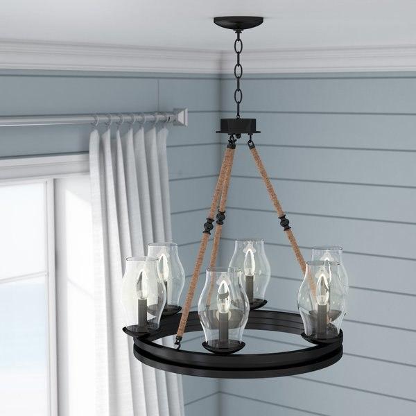 3D chandelier table model