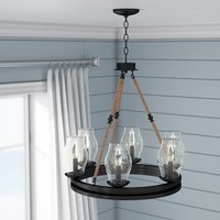Cobham 6-Light Wagon Wheel Chandelier