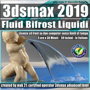 071 3ds max 2019 Fluid Bifrost Liquidi v.71 cd front