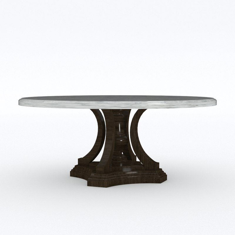 st james marble table 3D model