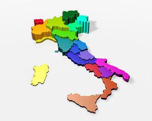 3D italy regions