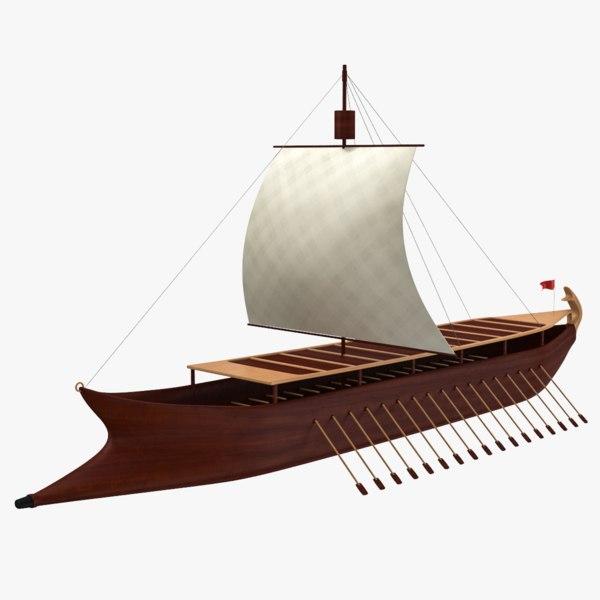 old sailing ship 3D