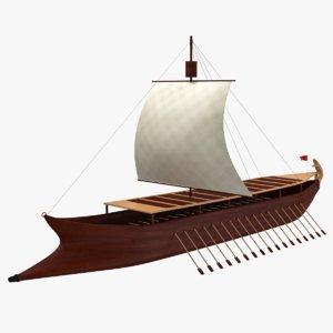 old sailing ship 3D