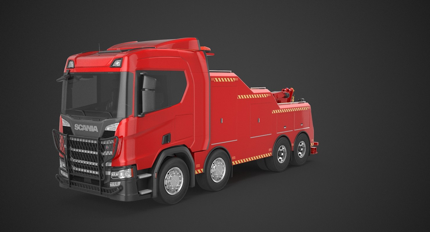 scania recovery truck 3D model