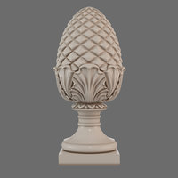 3D corbel pinecone model