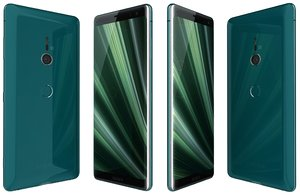 sony xperia xz3 forest 3D model