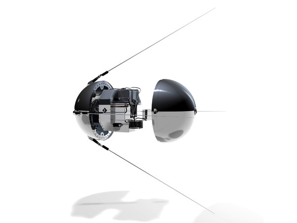 russian sputnik satellite 3D model
