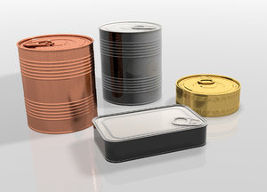 metal containers food model