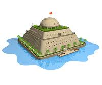 water castle 3D model