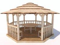 pergola architecture 3D model