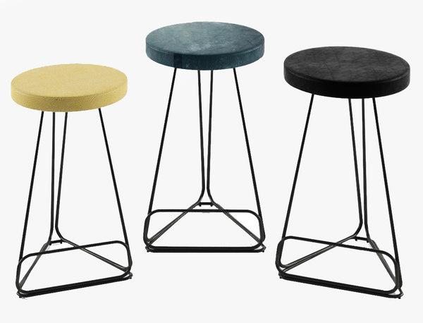 delta counter stools 3D model
