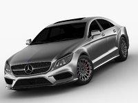 3D mercedes benz cls 2015 model