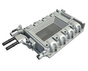 3D engine intake model