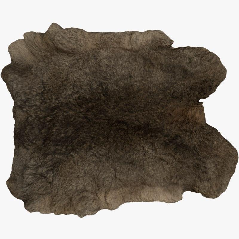 rabbit skin decoration fur 3D model