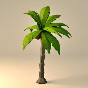 3D style palm tree model