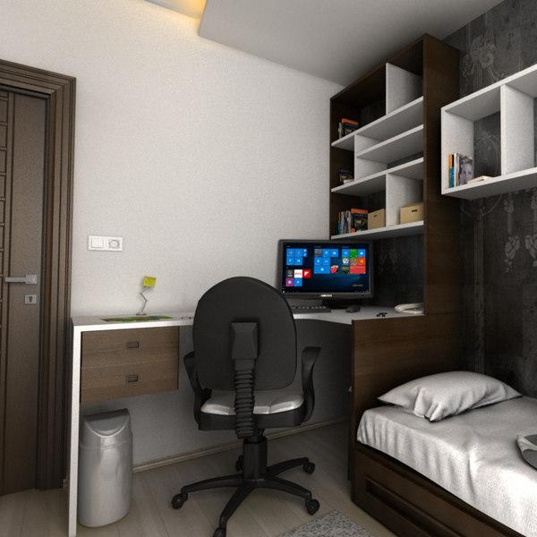 3D realistic teen room