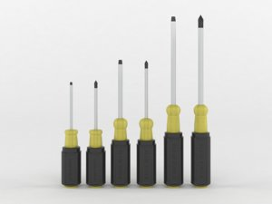 6 piece screwdriver set 3D model
