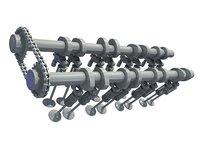 camshaft valves 3D model