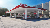 3D realistic gas station -