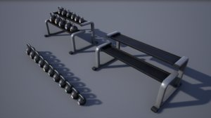 kettlebell rack 3D model