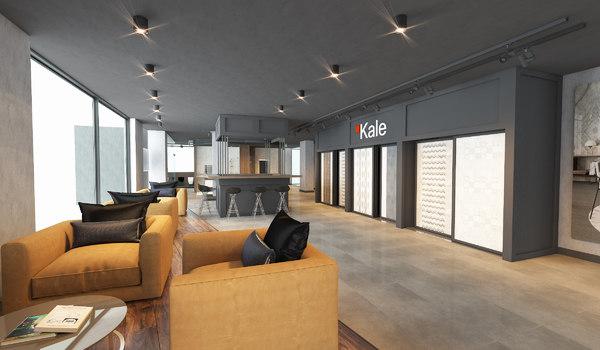 3D showroom bar interior