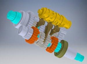 transmission motor 3D model