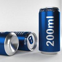 3D aluminium 200ml model