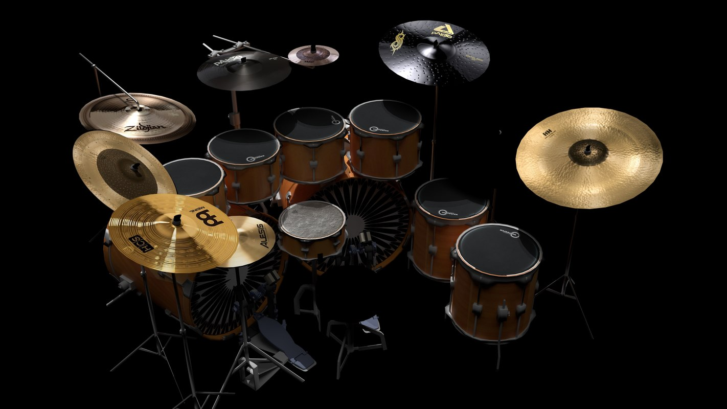 drums drumset model