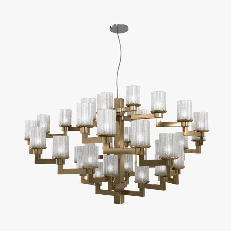 3D model chandelier italamp artu lamp