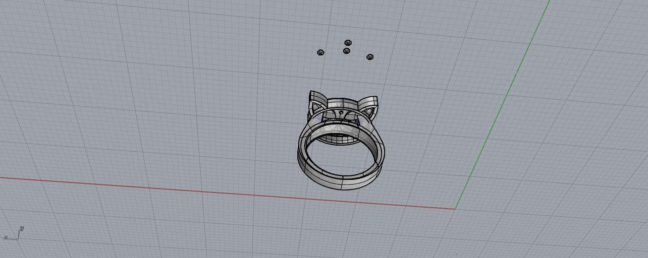 3D gatto model
