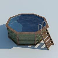 pool garden 3D model