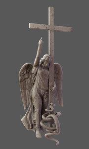 3D alexander column petersburg russia