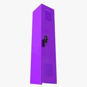 3D locker purple model