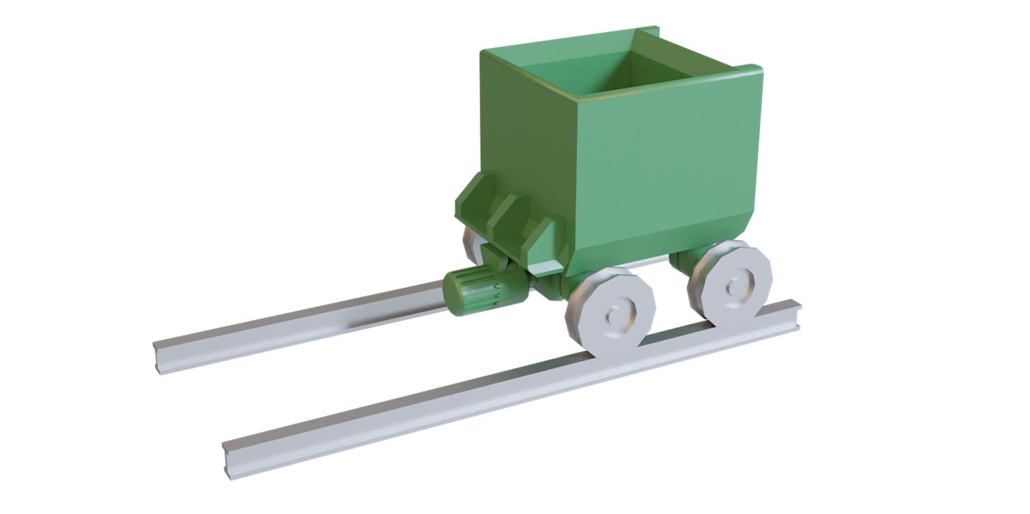 3D railway trolley model