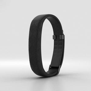 3D jawbone up2 black model