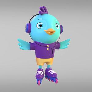 cartoon man chicken model